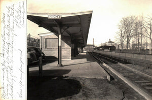Railroad Station Photograph Quincy Massachusetts  1939