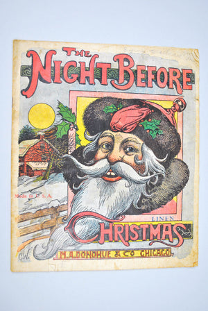 The Night Before Christmas c1890 Pinted into Linen