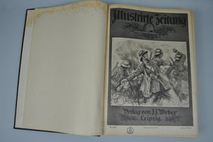 Illustrirte Zeitung German Magazine Bound WWI 1918 Vol II