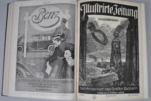 Illustrirte Zeitung German Magazine Bound WWI 1917 Vol I