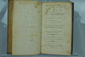 A Key to the Old Testement and Apocrypha by Rev Robert Grey 1792