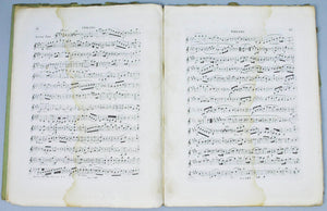c.1700's French Music Book Concert for Violin & Cello by Johann Nepomuk Hummel