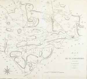 1805 Map of Rutlandshire - Cary
