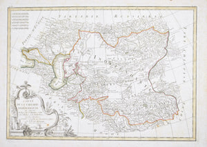 1778 Map of Central Asia - Bonne
