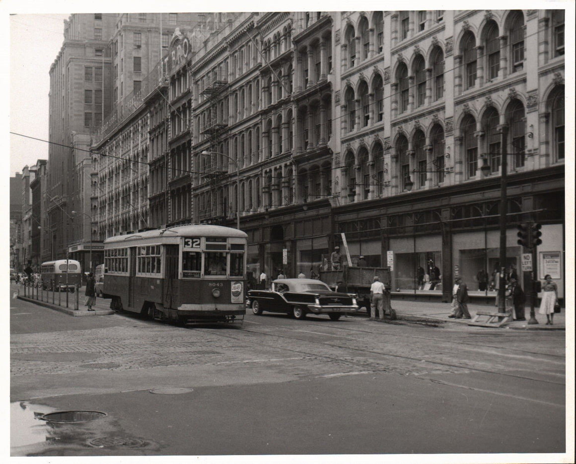 Electric Trolley Street Scene Photo New Jersey