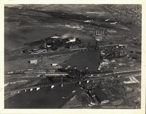 aerial Photo Jersey City New Jersey 1931 Hackinsack River Bridge Railroad