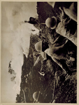 WWII Photo Japanese Shock Troops in Trenches in China by German Photographer
