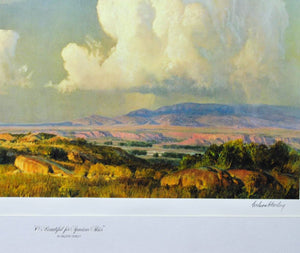 Wilson Hurley - O Beautiful for Spacious Skies - Lithograph - 1973