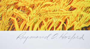 1973 For Amber Waves of Grain Lithograph by Raymond Hosford Signed 32x24in