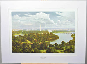 1973 America! America! Lithograph by James Fetherolf Signed Washington Monument