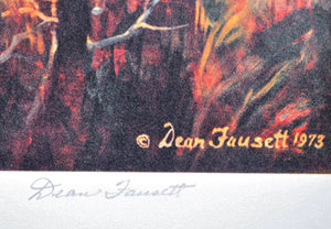 Dean Fausett - God Shed His Grace on Thee - Signed Lithograph - 1973
