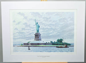 And Crown Thy Good with Brotherhood Print Robert Sticker Statue Of Liberty NYC