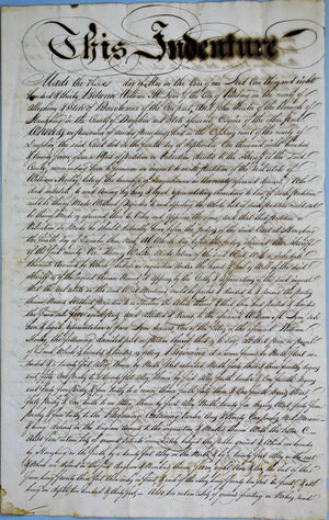 1830 Deed Indenture William Lyon to John Forster