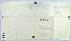 Deed William Altmore to John Heimer 1832 Philadelphia & Reading Railroad