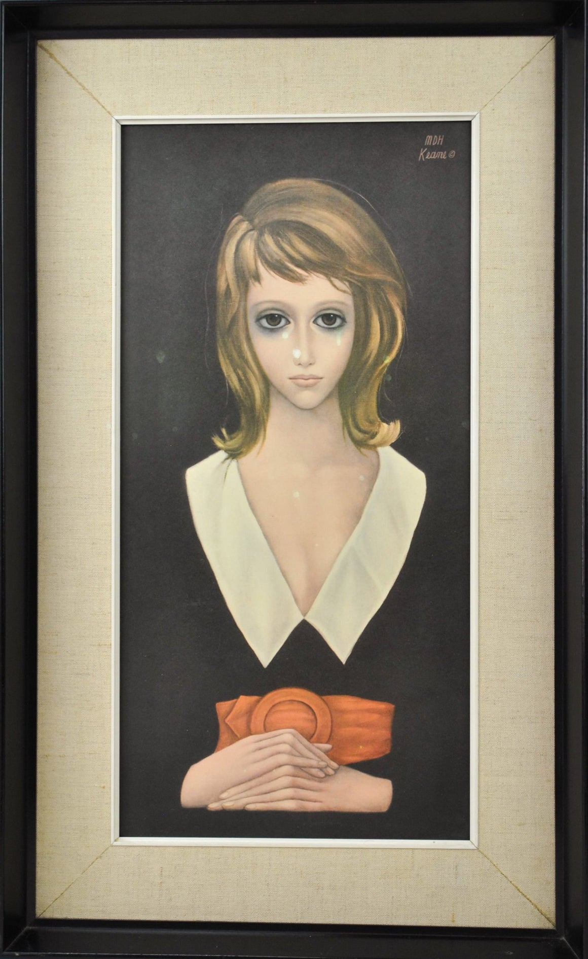 Margaret Keane - Young Woman - Offset Lithograph on Board