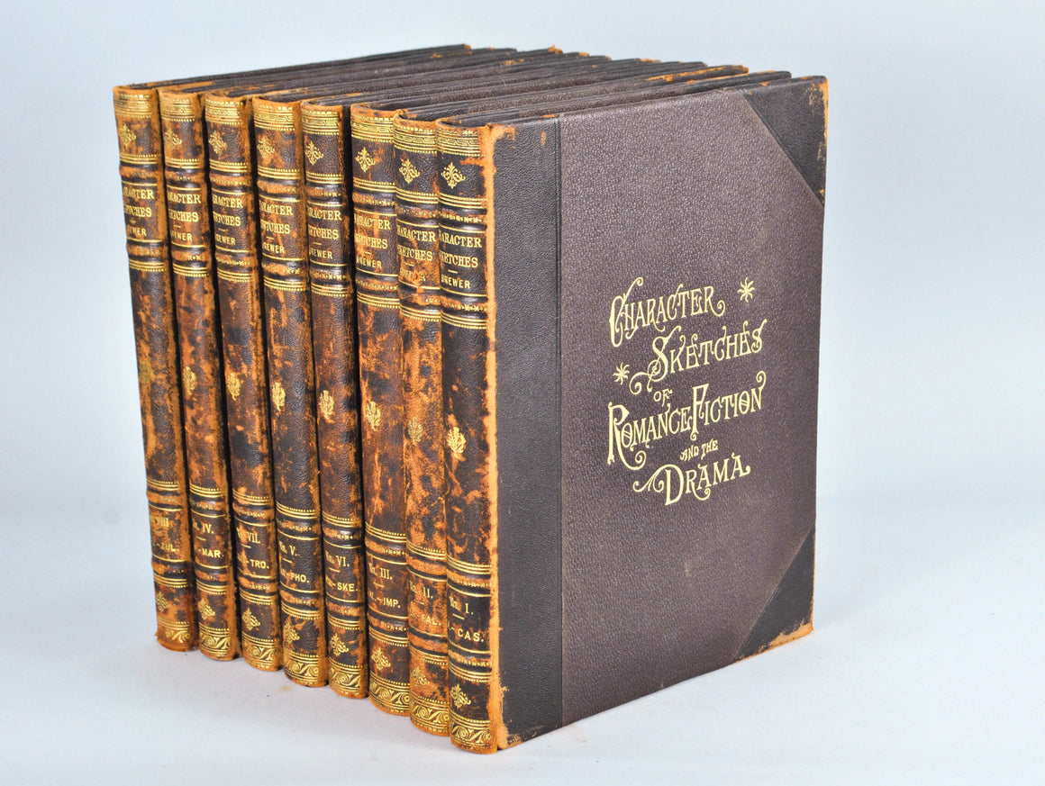 Character Sketches of Romance, Fiction and the Drama 8 Volumes 1902