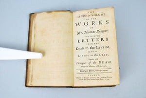 The Works of Mr. Thomas Brown by James Drake 1744
