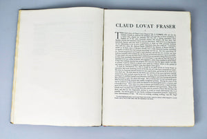 Claud Lovat Fraser by John Drinkwater Signed Limited 313 of 450