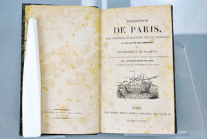 Description de Paris des Edifices Publics de Cette Capitale 1838