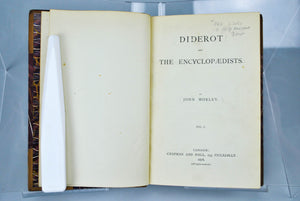 Diderot and the Encyclopaedists by John Morley 1878