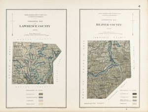 1885 Lawrence and Beaver Counties Pennsylvania - Lesley