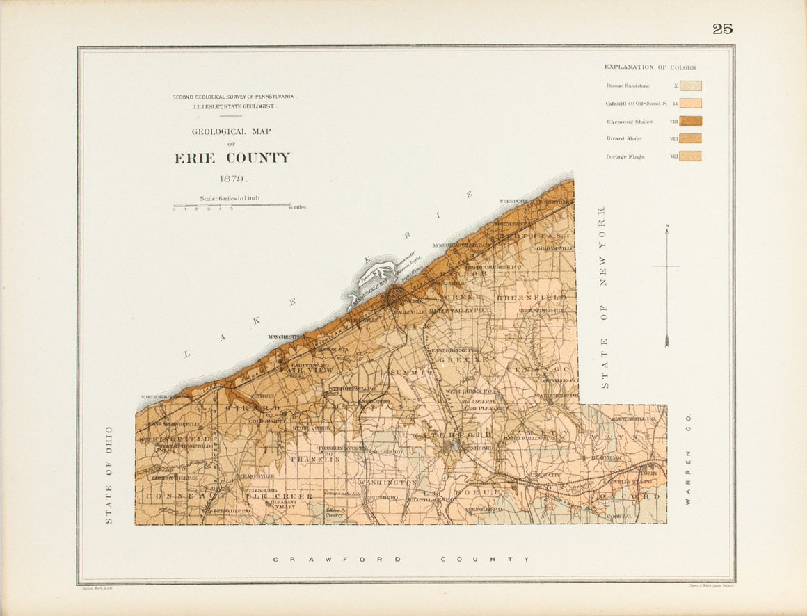 1885 Erie County Pennsylvania - Lesley