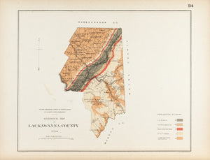 1885 Lackawanna County Pennsylvania - Lesley