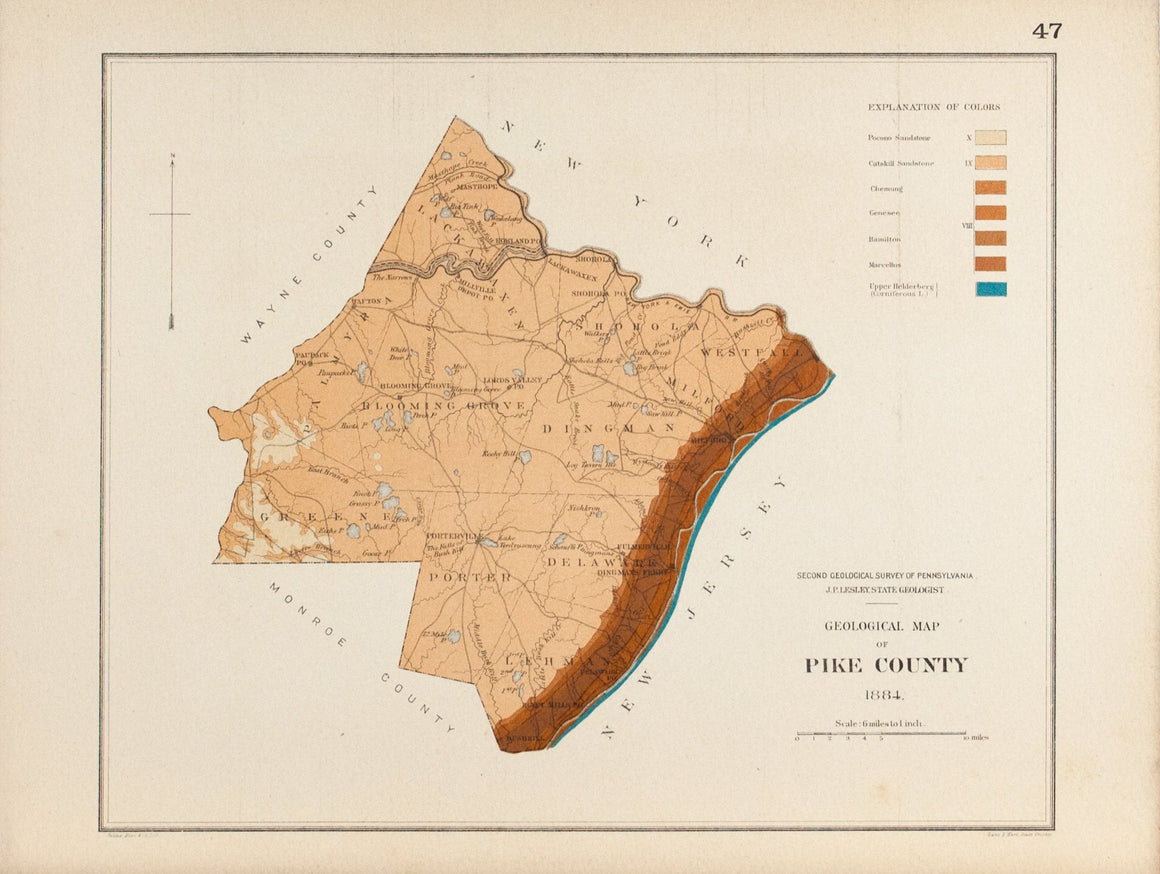 1885 Pike County Pennsylvania - Lesley