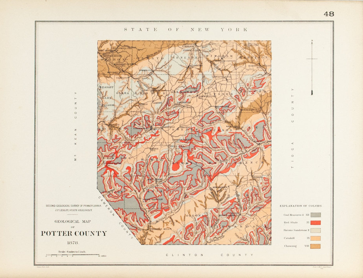 1885 Potter County Pennsylvania - Lesley