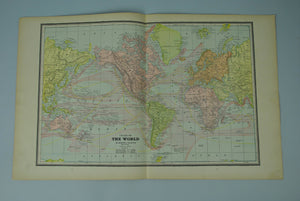 1887 Chart of the World - Cram