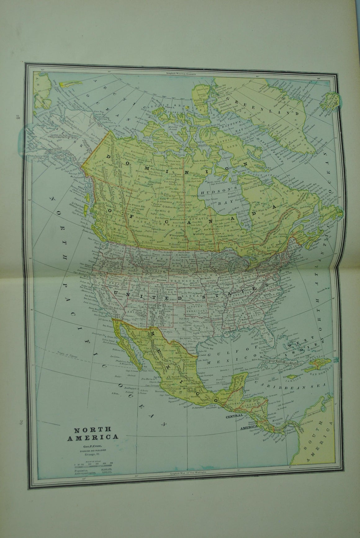 1887 North America - Cram