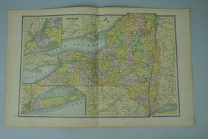 1887 New York New Jersey Connecticut - Cram