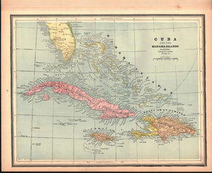 1887 South America Cuba Europe - Cram
