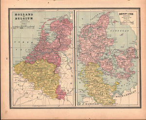 1887 Holland Belgium Denmark Spain Portugal - Cram