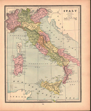 1887 Italy Turkey Greece Roumania - Cram