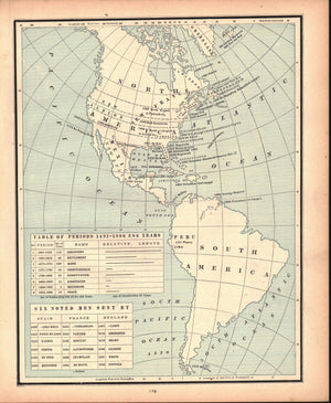 1887 Period of Discovery of the Americas - Cram