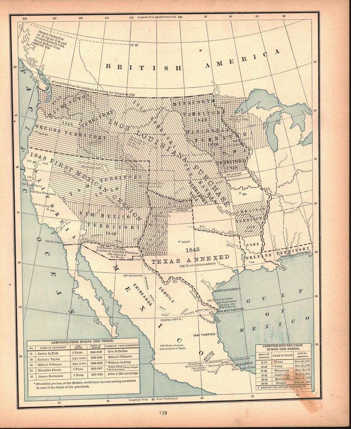 1887 Period of United States Expansion West - Cram