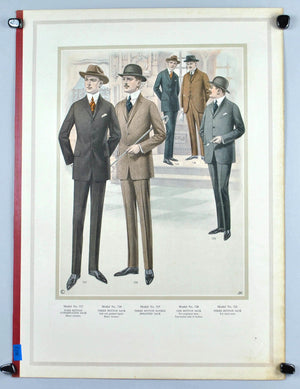 WWI Era Edward Rose Men's Taylor Fashion Plate Print Suit Collection B
