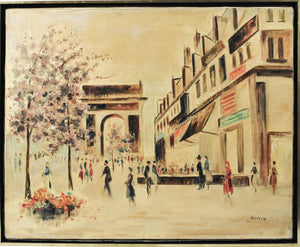 Morin - Arc de Triomphe - Signed Oil Painting - c 1950