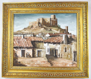 Raul Santos Viana Oil On Canvas Painting Velez Blanco Almeria Spain Signed
