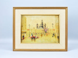 Morin - European Paris Street Scene - Oil Painting