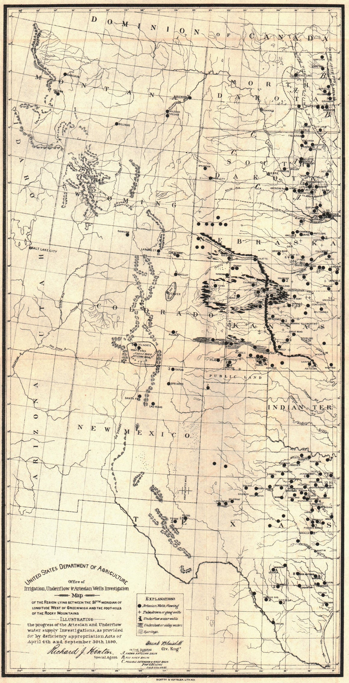 1890 USDA 97th Meridian to Rocky Mountains