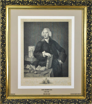 Doctor David Macbride 18th c. Dublin Medical Print Engraved J. T. Smith Reynolds