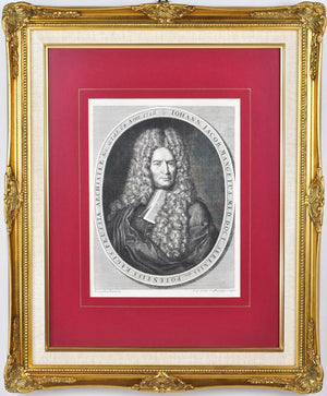 Johann Jacob Mangetus Medical Doctor Portrait Antique Print c.1730 Science MD