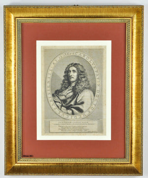 Charles Patin 17th c. Medical Doctor Portrait Print Paris France Claude Lefebvre