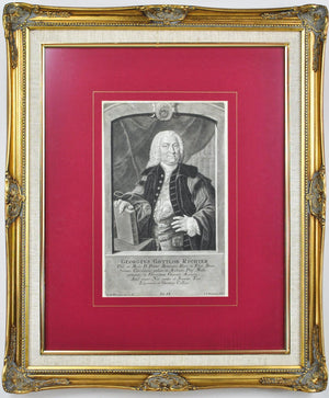 Georg Gottlob Richter 18th c. German Medical Doctor Portrait Print G. D. Heumann