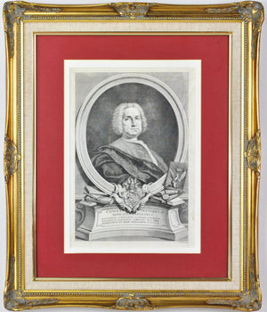 Francesco Roncalli Parolini 18th c. Italian Antique Medical Portrait Botanist