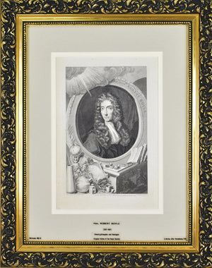 Honourable Robert Boyle (1627 - 1691) Antique Chemist Print