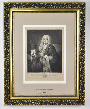 Sir William Browne (1692-1774) Antique Medical Doctor Print