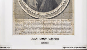 Jean Hamon (1618-1687) Antique Medical Doctor Print c. Late 1600s